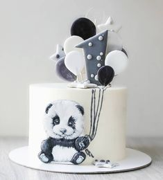 Fondant Cakes, Panda, Cake Decorating, Kids, Food, Crack Cake, Pastries, Cat, Young Children