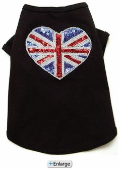 CUTE PET TEES! London Calling Heart Dog Tee Shirt at Yuppy Puppy!
