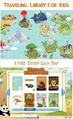 A Free book app for kids with over 400 books covering a wide range of topics, a traveling library for kids, one free book each day. Literacy Games, Early Literacy, Learning Apps, Learning Activities, Teaching Ideas, Free Stories, Reading Resources, Learn To Read, Read Aloud