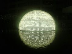 semi sphere led lamp @setia walk