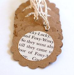 Storybook theme gift tags