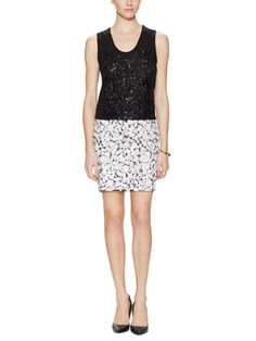 Mosaic Sequin Embellished Skirt from Love Moschino & More on Gilt