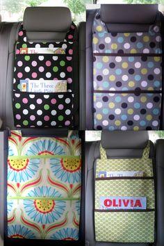 Book Organizer for Car Custom Order by VioletGiraffe on Etsy, via Etsy.