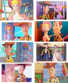 Woody and Bo, the cuuuutest. Disney Pixar, Disney Toys, Disney And Dreamworks, Disney Animation, Disney Stuff, Disney Couples, Disney Girls, Jessie And Buzz, Bo Peep Toy Story
