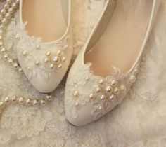 Handmade Pearl White Asymmetry lace by weddingdressoverture, $55.99 Beautiful!