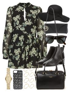 """""""Outfit for a meal out"""" by ferned ❤ liked on Polyvore featuring ASOS, Topshop, Acne Studios, Ray-Ban, Dorothy Perkins, Yves Saint Laurent, Marc by Marc Jacobs and Burberry"""