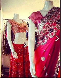 Colorful gota saris