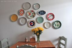 Kitchen plate wall #platewall #plates