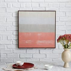 """Color Study Wall Art - Tulip #westelm  24"""" Square  120"""