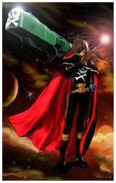 Capitan Harlock digital painting