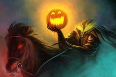 <b>Headless Horseman</b> Halloween Pumpkin HD Wallpaper Halloween 2018, Halloween Music, Fete Halloween, Halloween Painting, Halloween Quotes, Halloween Pictures, Scary Halloween, Halloween Pumpkins, Happy Halloween