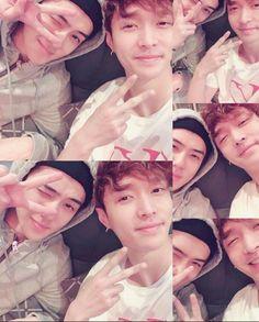 Lay and sehun via Yixing insta     I'm crying 💚💚😭😭😭