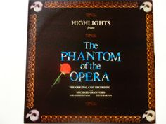 Highlights from The Phantom of the Opera Original Cast Recording - Andrew Lloyd Webber Polydor Records 1987 - Vintage Vinyl LP Record Album by notesfromtheattic on Etsy