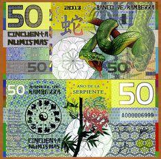 Kamberra, POLYMER, 50 Numismas, China Lunar Year 2013, UNC   Snake picclick.com