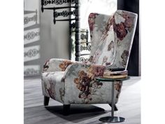 Marlene Armchair.  -Available in leather, microfiber or fabric. Wooden legs.