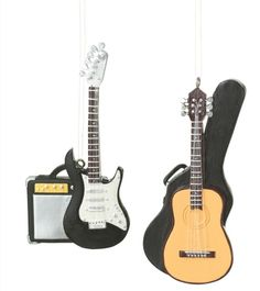 Guitar Christmas Ornament (Set of 3) | Christmas Ornaments All ...