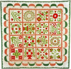 Beth Donaldson: Behind the Scenes Tours. Red and green album quilt, 1863