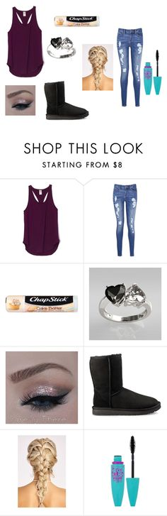 """Today at school"" by red01 ❤ liked on Polyvore featuring Tommy Hilfiger, Chapstick, UGG and Maybelline"