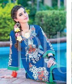 Plush Embroidered Kurtis Eid Collection by Riaz Arts EK_40