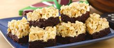 Popcorn! Peanuts! Fudgy brownies make a surefire win!