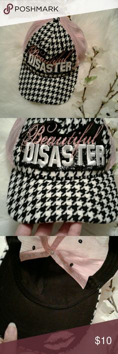 Beautiful Disaster Snap Back Trucker Hat No flaws-snap back-one size fits all Zhats Accessories Hats