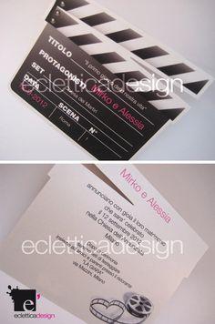 Partecipazione matrimonio CIAK...per un matrimonio in tema cinematografico