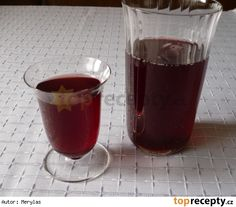 Višňový sirup Red Wine, Shot Glass, Alcoholic Drinks, Mugs, Tableware, Desserts, Food, Syrup, Diy Home Crafts