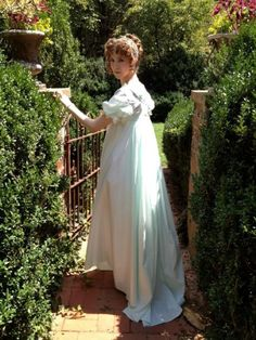 The Genesee Regency Gown: Bright star, would I were steadfast as thou art . Regency Gown, Regency Era, Historical Costume, Historical Clothing, Lovely Dresses, Beautiful Gowns, Romantic Period, Best Dramas, Period Costumes