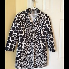 Carlisle Statement Coat  This is your spring MVP wardrobe piece! Transform your look / outfit now with this gorgeous animal print Statement Coat. It's definitely standout outerwear that will instantly elevate your look. It's great to pair with cami or tank & jeans, skirt or slacks. This can go to the office, parties, race track, luncheons, or church. Only worn twice.  This photo doesn't do this piece justice.  Check out the quality of this line at www.carlislecollection.com  It's very high…