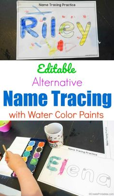 Editable Alternative Name Tracing with Paint - Create Printables Name Activities Preschool, Welcome To Preschool, Kindergarten Names, Preschool Curriculum, Preschool Learning, Writing Activities, Preschool Activities, Toddler Learning, Kindergarten Welcome