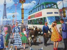 Bus Art, Rm 1, Teddy Boys, Public Transport, Times Square, Beautiful, Buses, Postcards, Classic Cars