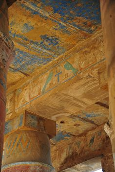 On my first trip, in 2006, I was impressed at finding color in this temple at Karnak. On this trip I was able to spend more time here and photograph the remaining colors Flirck.