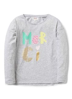 Girls Tops Tees & Tanks | Merci Ls Tee | Seed Heritage
