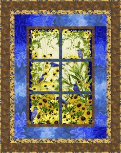 Bluebird Quilt - Love this FREE pattern - great way to use a panel