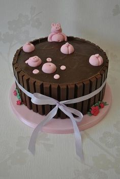 Pigs in Mud cake