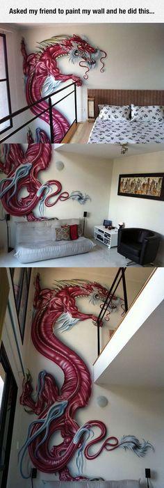 Gran idea para decorar con los seres mitológicos que te gustan