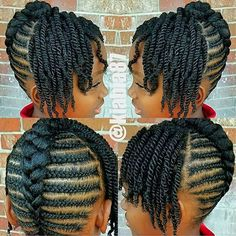 LOOK: Youre gonna get so many cute ideas from these braid hairstyles for Black women & kids. Its THAT TIME again: Today, were featu. Little Girls Natural Hairstyles, Natural Braided Hairstyles, Natural Hair Braids, Braided Hairstyles For Black Women, Braids For Black Hair, Natural Hair Cornrow Styles, Black Kids Braids Hairstyles, Natural Curls, Little Girl Braids