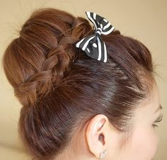 Braided bun.. first time I've ever seen this will have to try out.