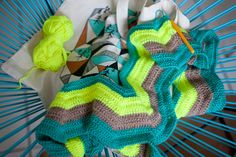 ma couverture chevron au crochet (tuto inside)