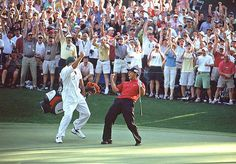 Tiger Woods, Steve Williams, 2005 Masters