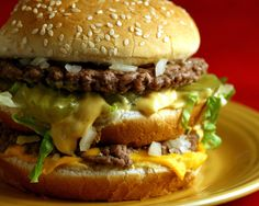 McDonald's Big Mac Recipe -- Yum and Yum!! Really good recipe. Made 2 changes to the sauce because it looked more yellow than the light orange type color. Instead of 2 t ketchup did 3 t and 3 t dill pickle relish. Also next time maybe add more sauce than suggested ...Man this was good!!!! ~*Holli*~
