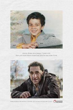 [광고디자인]누구나 노숙자가 될수있다 : 네이버 블로그