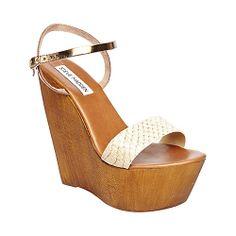 BAILONA NATURAL MULTI women's sandal high wedge - Steve Madden
