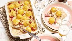 Sauerkraut, Klöße und Cabanossi mit würzigem Bergkäse goldbraun überbacken - Das herzhafte Rezept gibt's auf maggi.de