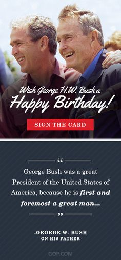 Join conservatives across the country in wishing George H. Bush a happy birthday this week. Add your name to his birthday card! Birthday Cards, Happy Birthday, Our Legacy, Wish, Join, Names, Country, Bday Cards, Happy Brithday