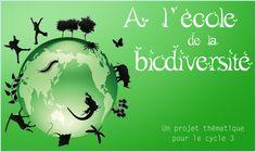 Gratuit A l'école de la biodiversité est un projet thématique pour le cycle 3 destiné à sensibiliser les enseignants, enfants et parents aux enjeux de la biodiversité. Ajouté par Sophie