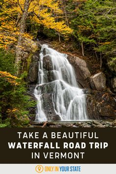Nature lovers won't want to miss this road trip that takes you to the tallest and most beautiful waterfalls in Vermont. Some hiking is required but you'll get a natural pool for your efforts. The waterfall swimming hole makes this a perfect summer adventure. New England Fall, Swimming Holes, Beautiful Waterfalls, Haunted Places, The Places Youll Go, Vermont, Road Trips, Travel Destinations, Hiking
