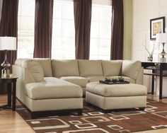 Living Room Sectional in Fusion Khaki