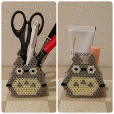 Totoro holder perler beads by kurumi_mercari