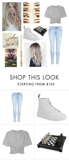 """""""Avrin Rasa Macon~Second Year"""" by poizell ❤ liked on Polyvore featuring Current/Elliott, Dr. Martens and T By Alexander Wang"""
